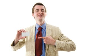 Intranet Names Examples Businessman holding business card image