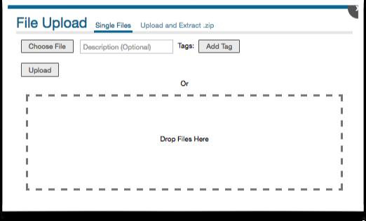 noodle intranet drag and drop file upload