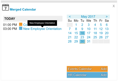 Digital Workspace Calendar