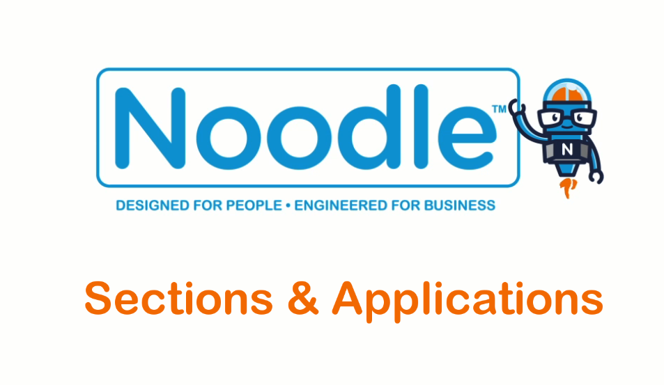 Noodle Intranet Tutorial Sections and Applications