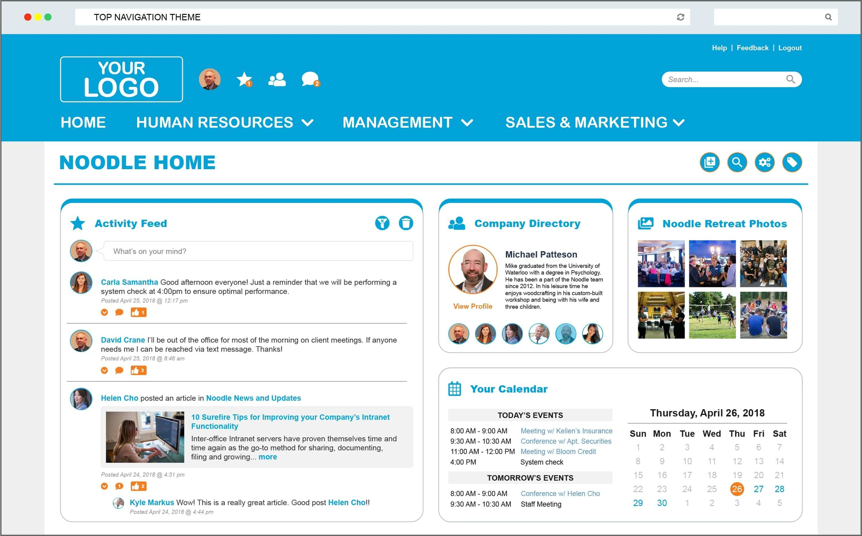 Intranet Portal Example Two