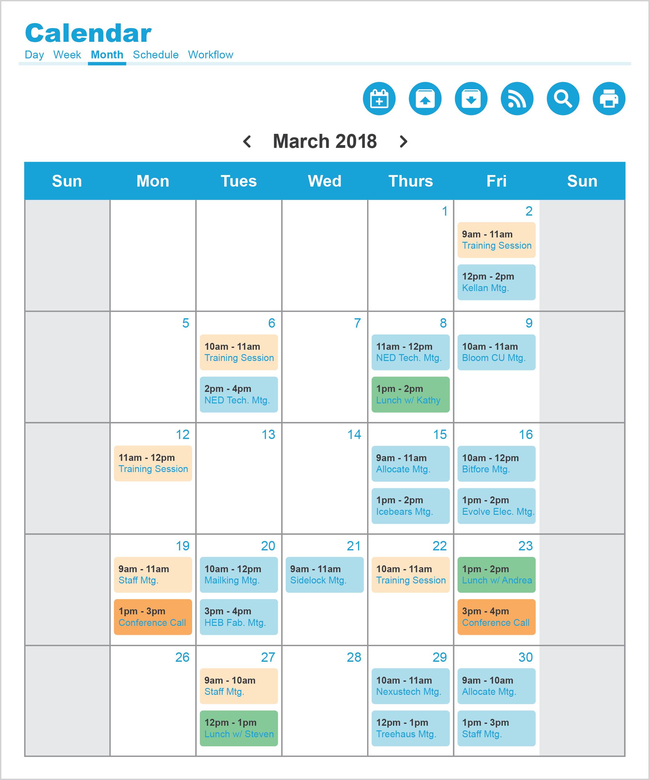 Intranet Calendar