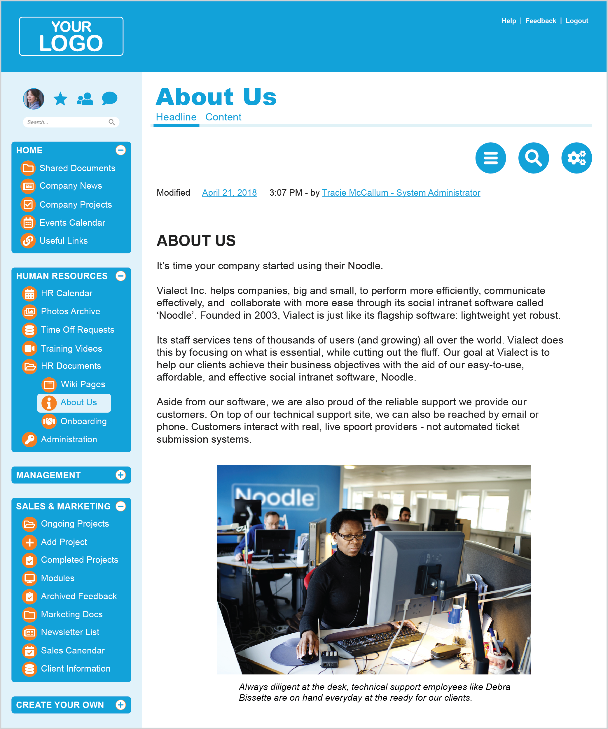 Intranet Pages