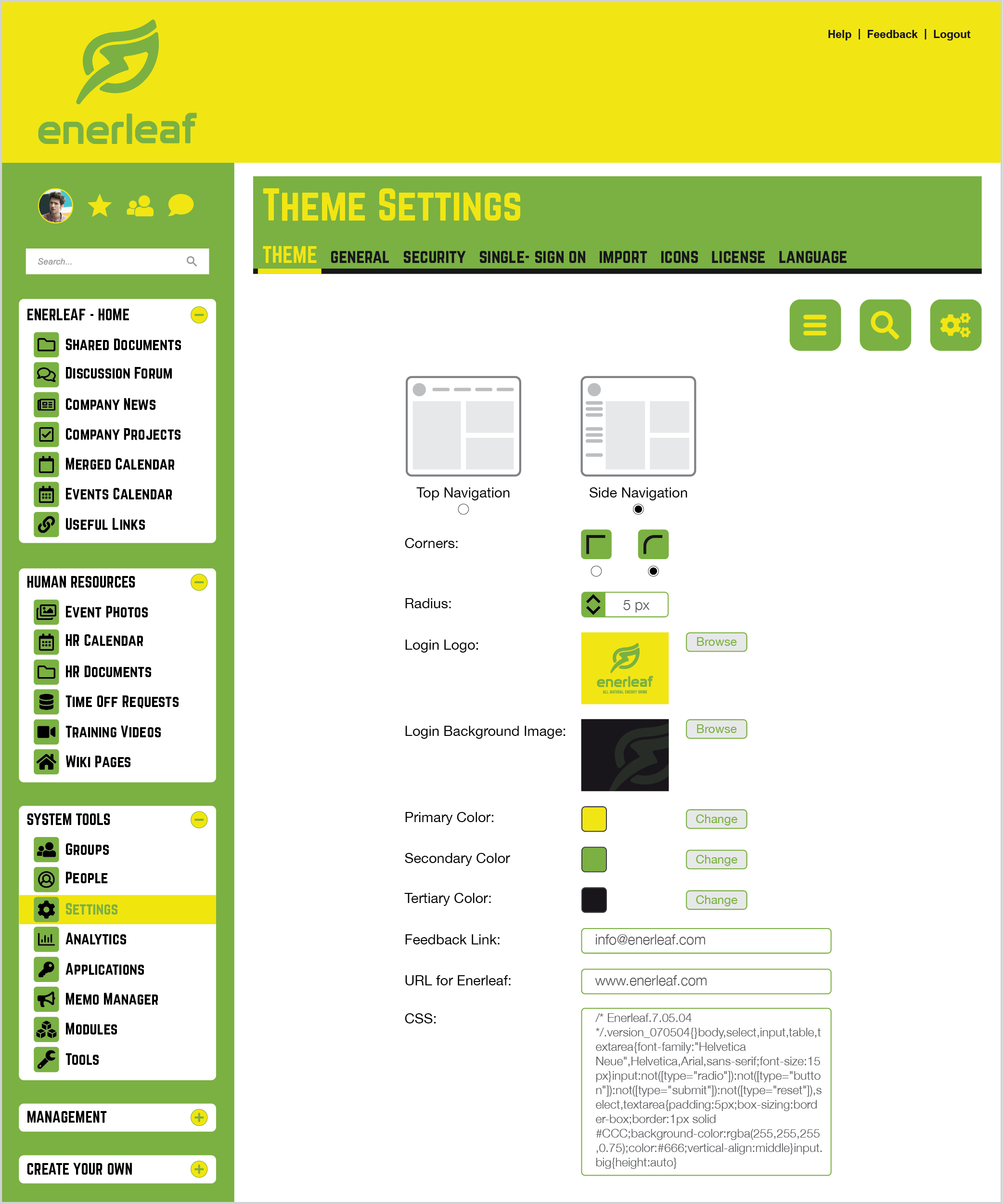 Intranet Theme Examples